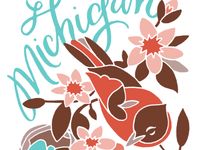 Michigan Robin + Apple Blossom