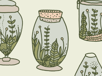 terrarium obsession plants nature obsession overprinting frenchpaper screen printing love terrarium drawing hand drawn scanned in coloring