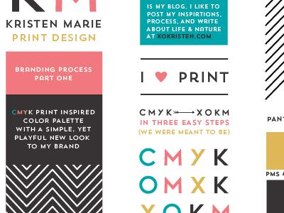 Personal Branding Process branding identity personal print design cmyk color palette