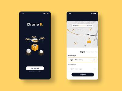 Drone it uidesign design delivery app drone ui creative figma design app ui designer interaction design mobile ui interaction