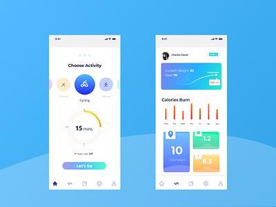 fitness app concept figmadesign creative app figma design interaction design ui designer mobile ui interaction