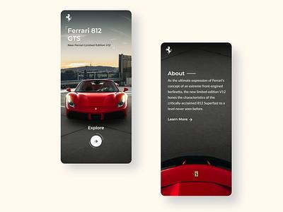Practice Ui for Ferrari Website website design design ui figma design ui designer mobile ui interaction