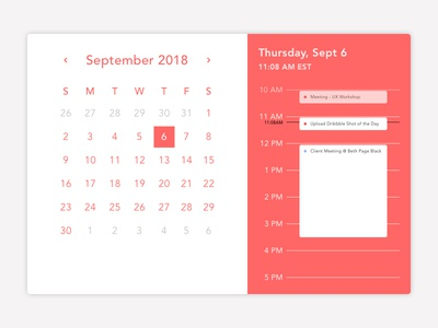 Calendar september golf break lunch break meetings appointments calendar app sketchapp flat ui application ui nyc design illustration uidesign vector concept calendar daily ui dailyui