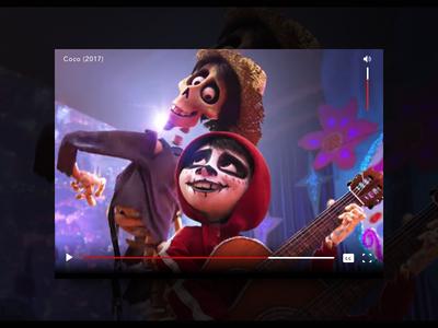 Video Player media controls ux ui vector dia de los muertos halloween illustration nyc uidesign daily ui sketchapp volume cc play movie coco concept design day57 dailyui