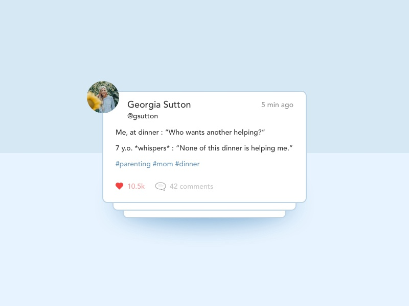 Status Update likes comment status update status ui sketchapp uidesign illustration nyc design concept dailyui