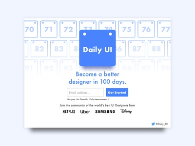 Day 100 - Daily UI Redesign