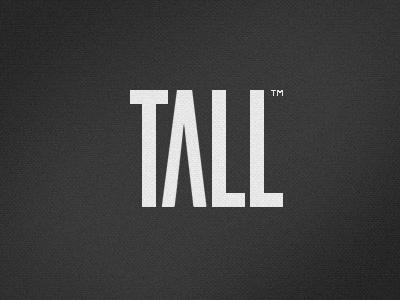 Tall Logo logo brand arrow text tall thin type white black texture