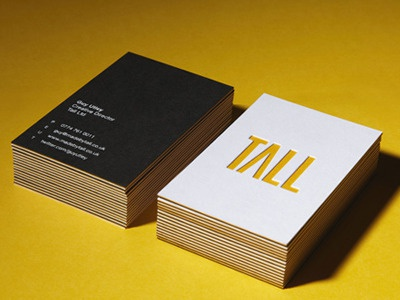 Tall Business Cards business cards stationary logo branding