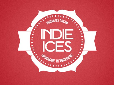 Indie Ices flower tag ices logo ice handmade cream rose