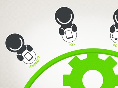 Sneaky peek - infographic icons design infographic smile cog ia green
