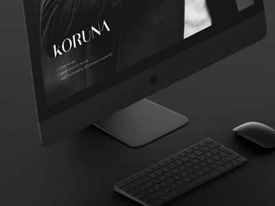 Branding // Koruna black dark sleek minimalistic minimal sophisticated high-end branding design logo