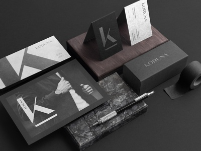 Branding // Koruna dark black sleek minimalistic minimal sophisitcated high-end branding design logo