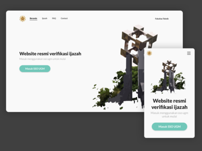 Landing Page For Verification Application