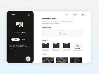User Profile - Dashboard Design dashboard design dasboard profile profile user profile dark ui black ui interface design app ui design ui design dashboard ui dashboad