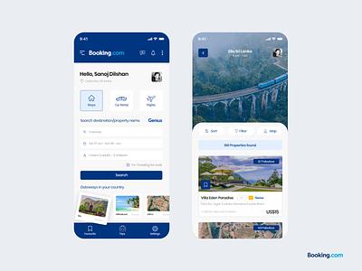 Booking.com Mobile app Redesign UI Concept ui ui design interface design app ui design mobile design user experience ux app design uiux user interface redesign mobile app booking app booking.com booking