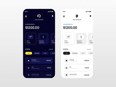 Digital Wallet App UI Concept interface design app design design app user interface ui designers minimal creative figma user experience ui designer app ui