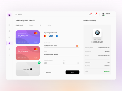 Payment Dashboard - UI Design payment dashboard clean ui minimal designs dashboard dashboard ui trend figmadesign figma user interface design userinterface invoice design payment web webdesign design ui ui design