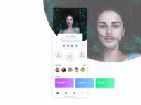 User profile UI design
