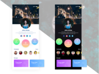 User Profile App UI desgn.
