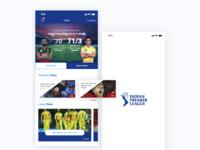 Daily UI Design  | IPL Mobile app UI design