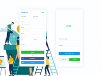 Mobile Login UI | Daily UI Design