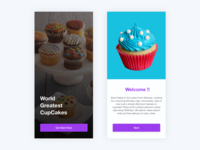 Cup cake shop App | Welcome screen