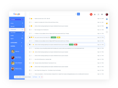 Gmail Ui Design designs, themes, templates and downloadable