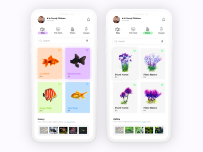 Aquarium App UI Design | Daily UI Design
