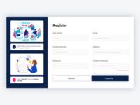 Register form Page Web UI Design