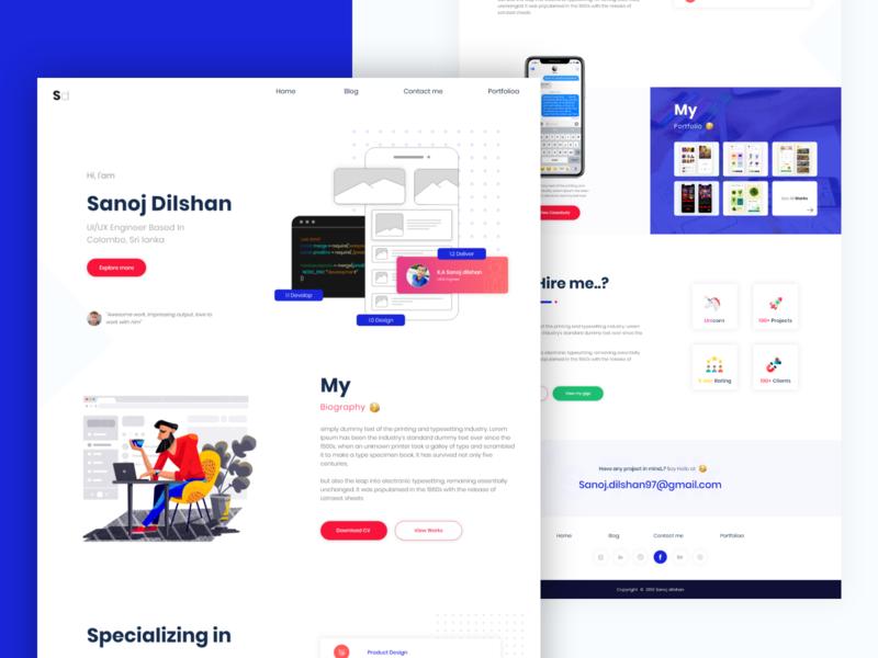 Personal Website Design | Landing page design web designer website personal website web desgin web design landing page design