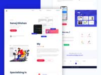 Personal Website Design   Landing page design