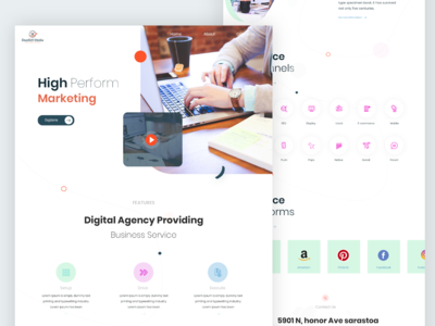 Advertising Agency Web landing page design