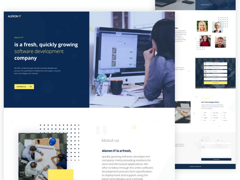 IT Company Web design agency agency website landing page design landingpage designer webdesign website it company