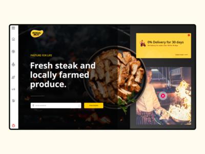 Food web User interface design food website user interface design webdesign website app ui design ui design ui