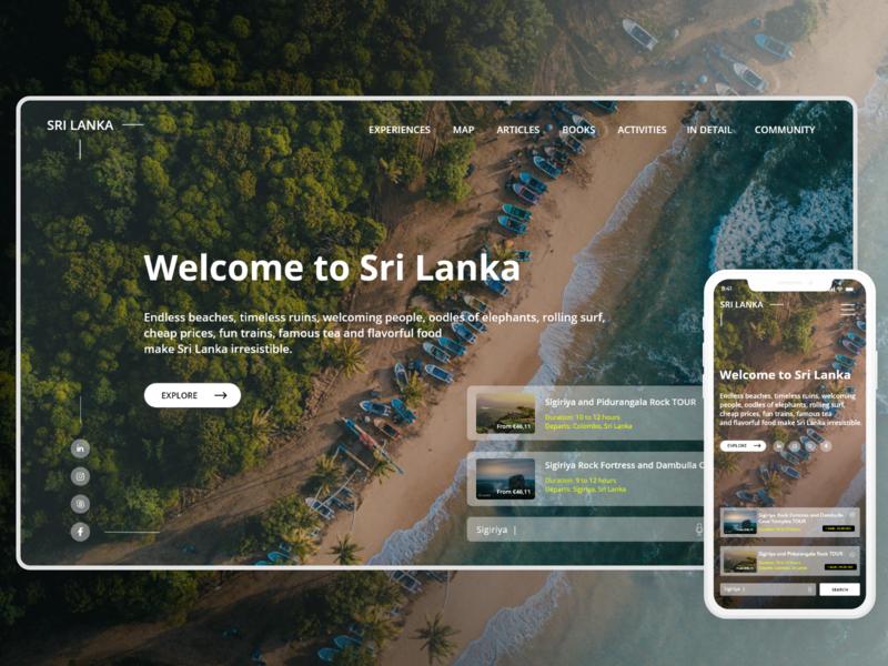 Visit Sri lanka web design responsive design web designer sri lanak travel agency sri lanka tourism webdesign website ui design ui