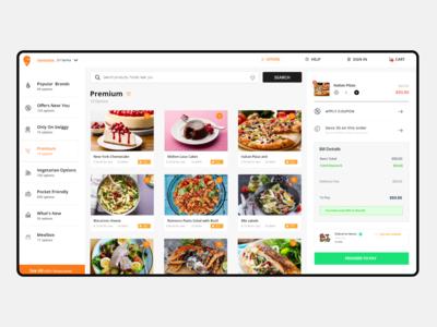 Restaurant dashboard design