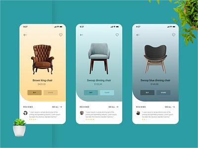 Furniture store App design app interface design app ui design ui design furniture store app design ui desgin user interface design mobile app design furniture furniture app