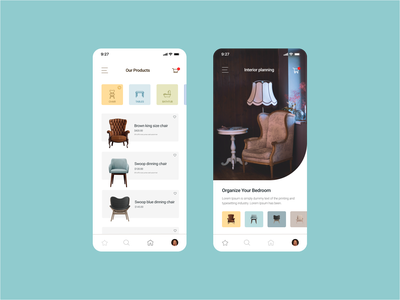 Furniture store App design II app ui app designer ui designer ui  ux user interface ui interface design interfacedesign furniture app