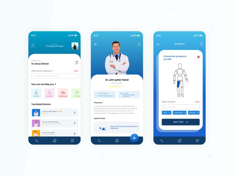 Medical App design app designer user interaction app design doctor app doctors hospital hospital app healthcare app health app medical doctor