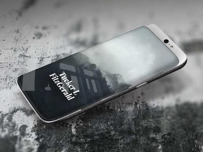 Slider phone mockup mobile phone