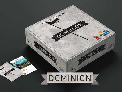 Dominion Box board game packaging identity logo