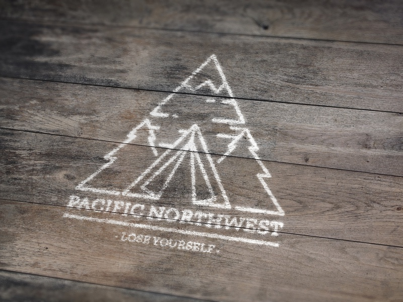 Pacific Northwest Illustration trees camping mountain tent pacific northwest illustration logo