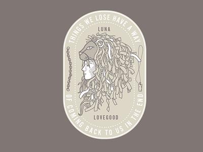 Luna Lovegood identity logo hatching illustration
