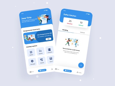 IT Service Jasa Tirta application mobile app design mobile app ux uiux uipractice ui uidesign mobile illustration design clean app