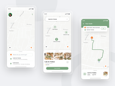 Navigation App Challenge maps map design navigation app mapbox map ui map navigation minimalis design app screen illustration uiux simple ux ui app mobile app