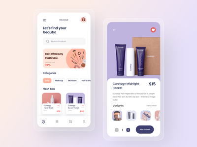 Beauty Product Mobile App product ios beauty skin care skincare uidesign mobile minimal app design ux uiux clean ui