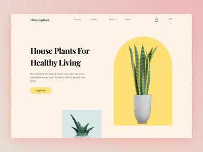 Exploration - Greenhouse Store Company landing page plant store greenhouse 3d plant 3d plant hero section homepage website minimal design ux uiux clean ui