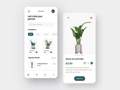 Exploration - Greenhouse Mobile App 3d artist plant app plantshop plant illustration plants plant mobile app minimal design ux uiux clean ui