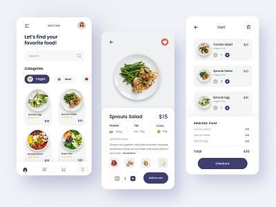 Delivery Food Mobile Apps healthy vegetarian food delivery app delivery food app food mobile app uidesign mobile app minimal design ux uiux clean ui