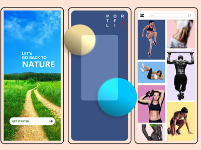 Mobile UXUI Designs fitness nature uiux app design prototype ui  ux adobe xd uiuxdesigner ui design mobile uxui